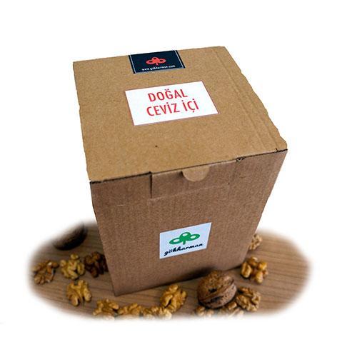 organik doğal organic ceviz içi kraft kutu gökharman tazemasa